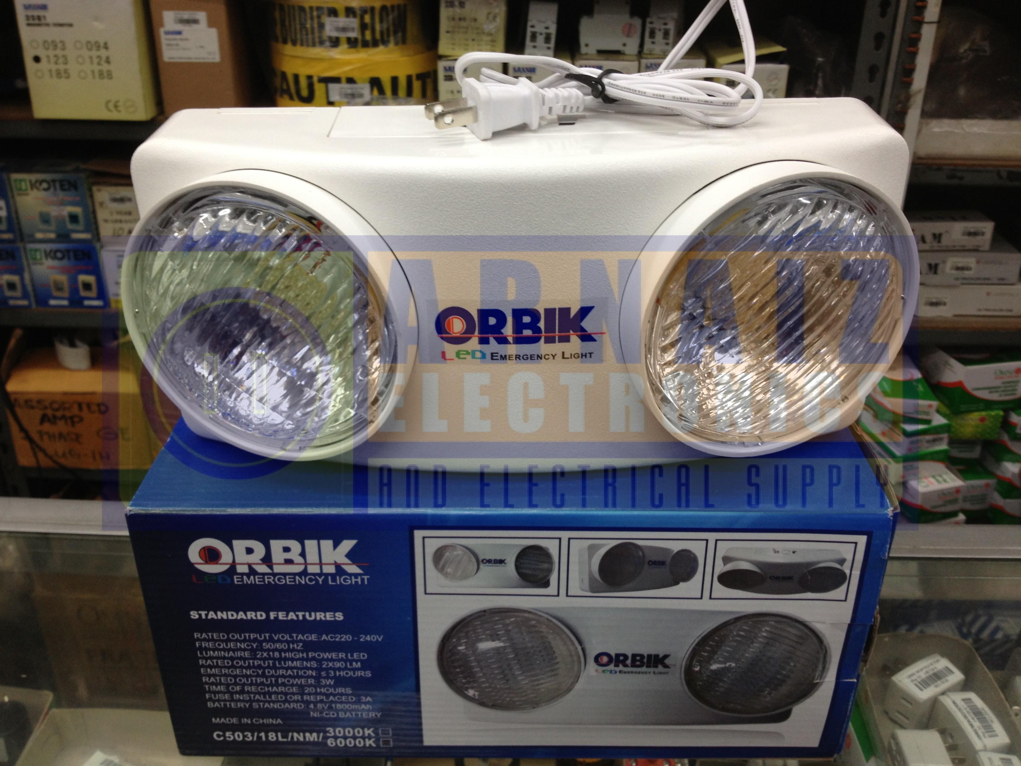 Orbik C503 Led Emergency Light C 503 Lamp Arnaiz Electronics Battery Protector Img 4404