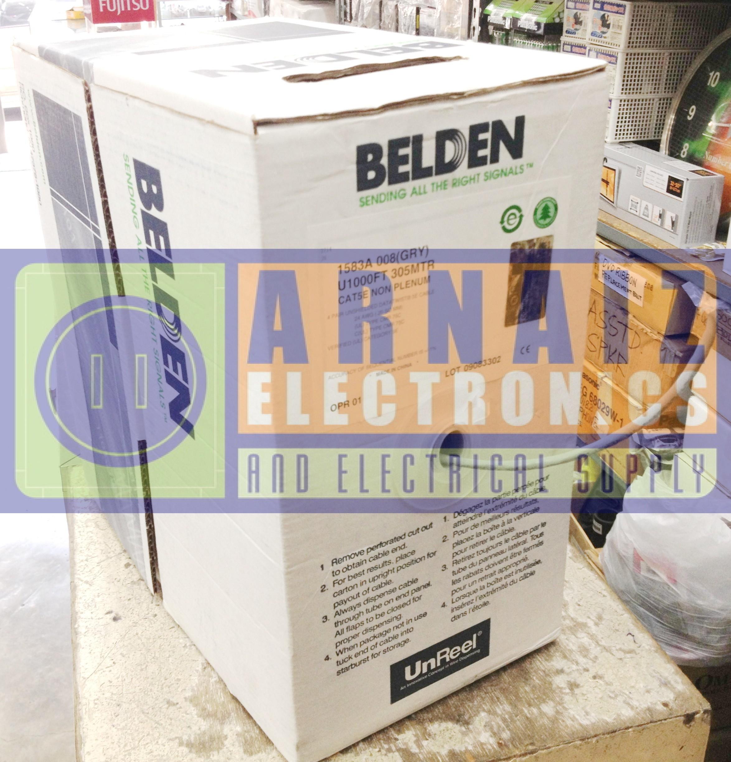 Belden Cable Utp Cat5e 305 Mtr The Best 2018 Kabel Lan Original Usa  Per Meter Jual Cat5 Cat 5e Made In 1 Roll Oktha