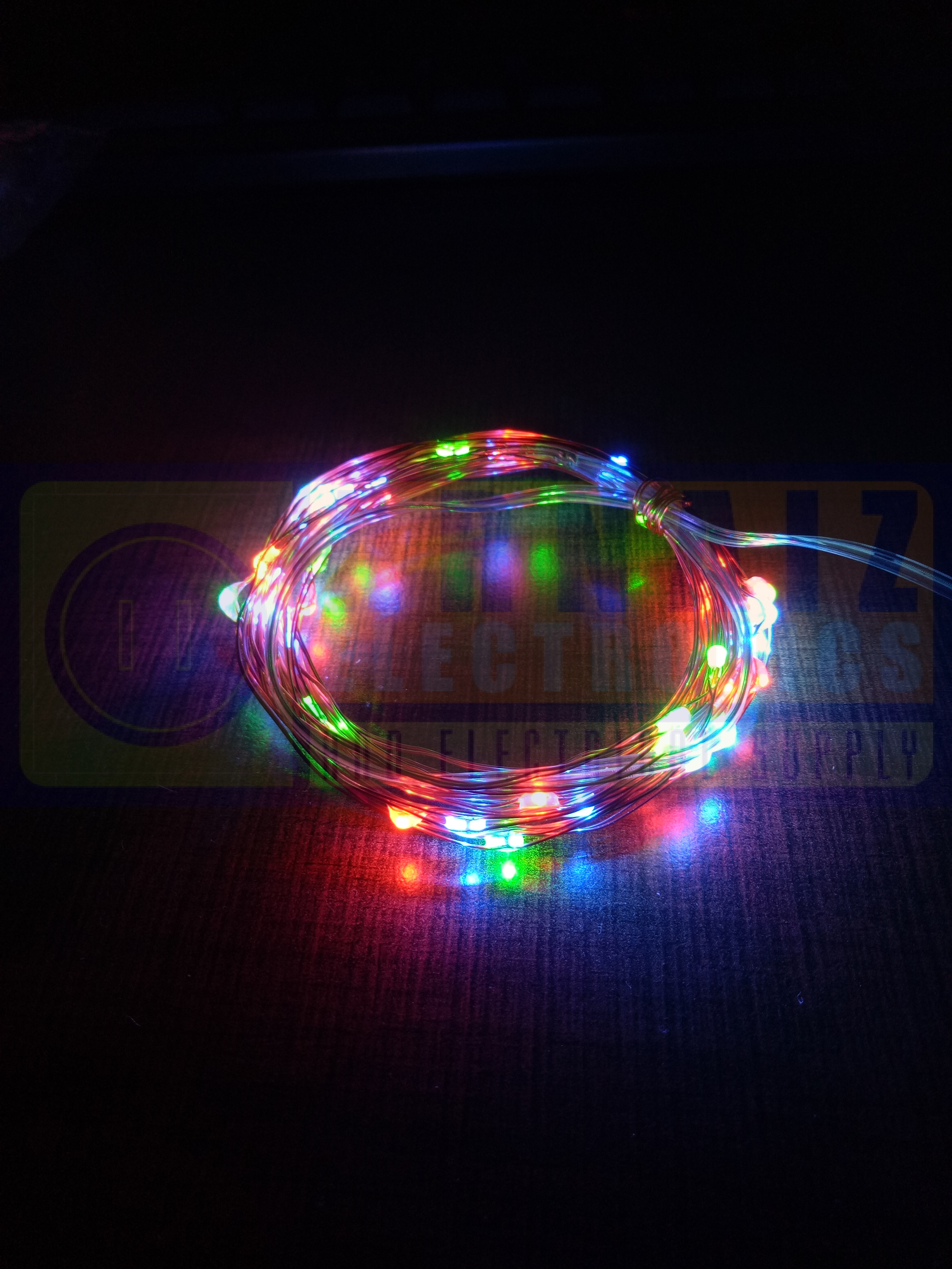 LED copper string fairy pixie lights 50 LEDS 5 meters ...